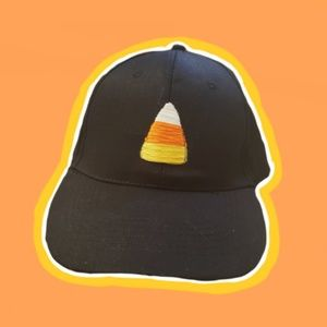 Candy Corn Cap - Hand Embroidered! NWT